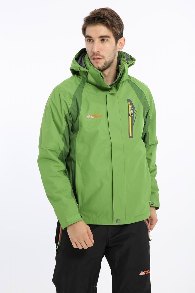 ФОТО 2 IN 1 BRAND WATERPROOFMen 's outdoor climbing leisure sports complex cashmere soft shell jacket clothing style is too large