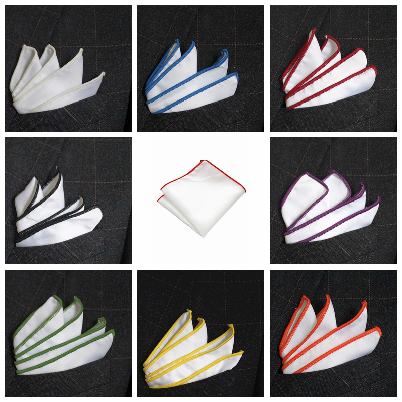 JEMYGINS Original White Multicolor Fashion Hanky Men Pocket Square Sell Well Handkerchie Accessories For Gentlemen Wedding Party