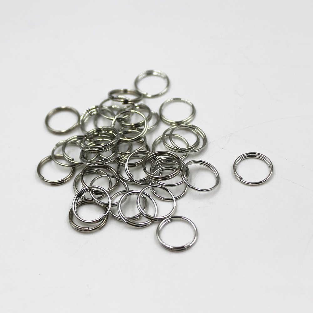 10mm oro/plata llavero hombre mujer anillo de llave de aleación de cadenas clave llaveros llavero de la joyería de DIY Material 100pvd