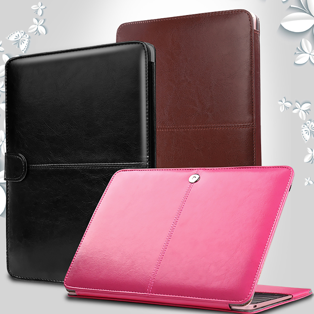 SZEGYCHX PU Leather Stand Laptop Shell Cover Case For Macbook Air Pro Retina 11 12 13 15 inch with Touch Bar New Bag Sleeve new leather sleeve protector bag stand cover for macbook air 13 pro retina 11 12 13 15 laptop case for macbook pro 13 touch bar