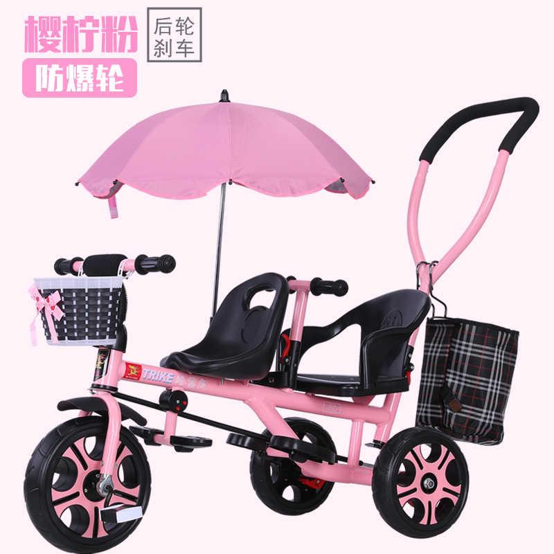 Уличная легкая двухместная детская коляска От 1 до 8 лет