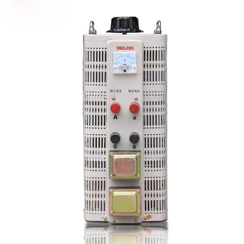 купить 1pc TDGC2 single phase regulator input 220V transformer 15000W voltage adjustable regulator Output 0V-250v power converter по цене 26136.04 рублей