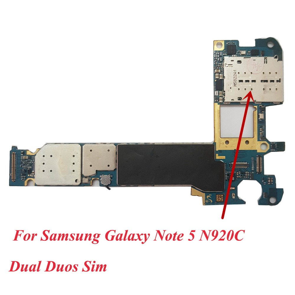 US $35 72 6% OFF|Aliexpress com : Buy Tehxv Original Unlocked for Samsung  Galaxy Note 5 N920CD Dual Sim Motherboard Android,for Galaxy Note 5 N920CD