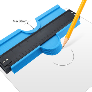 Image 4 - 5/10 Inch Contour Gauge Plastic Profile Copy Gauge  Profile Jig Guide Marking For Tile Edge Shape Copy Measuring Tool