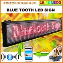 Bluetooth Программируемый Прокрутка Сообщение светодиодная вывеска для Компании или Магазина-Красный Сообщение