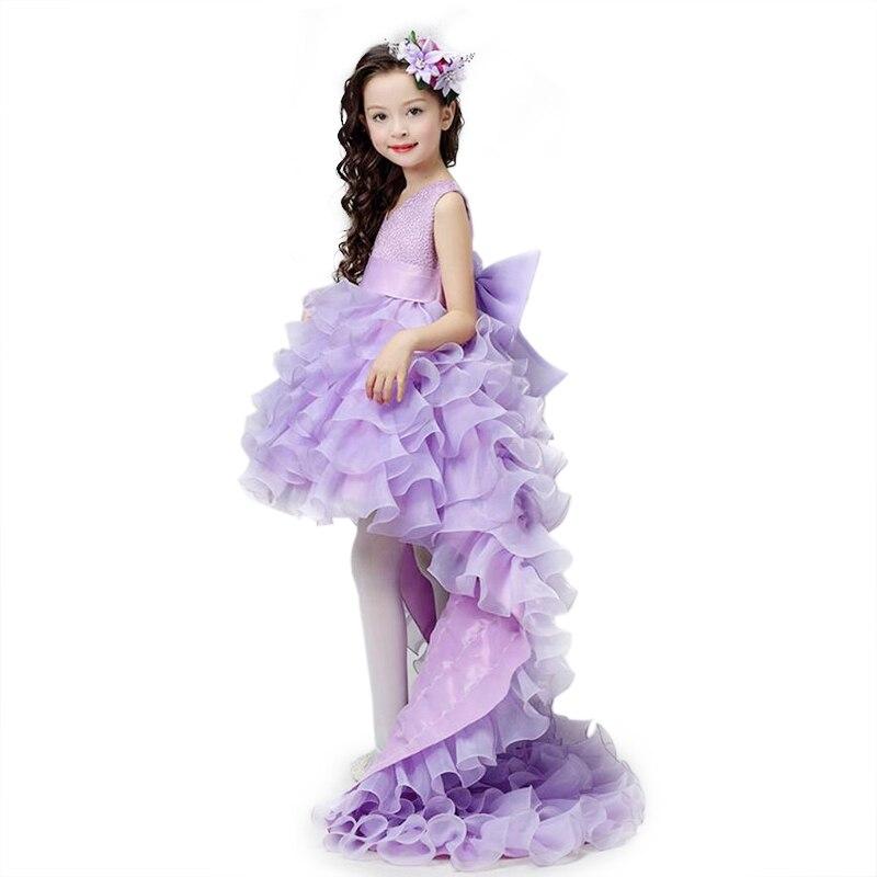 5f7e73fbc Vestidos de niña de las flores de gasa roja siguiendo concurso chica de  verano de los niños de 2 a 14 años bodas fiesta de cumpleaños Tutu vestido  con arco ...