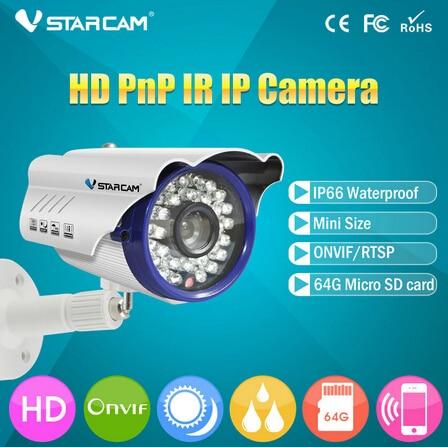 ФОТО Vstarcam C7815WIP Onvif 2.0 Waterproof IP66 IP Security Camera Outdoor 720P  Network 1.0MP HD CCTV Camera Support 64G SD Card