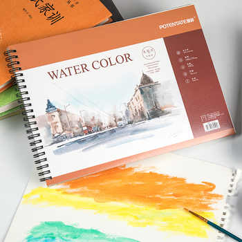 Potenta A4 16 sheets Artist Watercolor Paper Sketch Book For Oil Paiting Drawing Diary Creative Notebook Gift Drawing Art Papers - DISCOUNT ITEM  45% OFF All Category