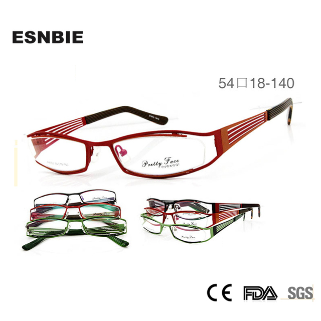 3f50f53660 ESNBIE NEW Design Cheapest Metal in Double Painting Optical Eye Glasses  Frames for Women Prescription Glasses Spectacle Frame