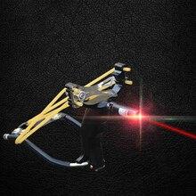 Горячие Продаж Лазерной Рогатки Лазерное Наведение Соединение Охота Slingshot Магниевого Сплава Слинг Запястье выстрел(China (Mainland))