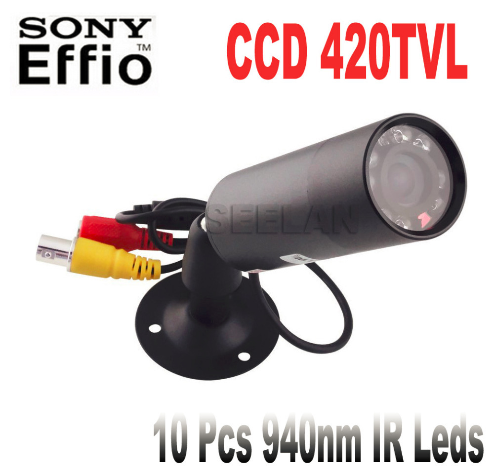 ФОТО 420TVL CCD Mini Bullet Outdoor Invisible 10pcs IR 940NM 0 lux Night Vision CCTV mini Camera with 1/3