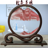 liquid sand frame moving sand gift landscape painting glass photo office desk art home decoration flowing picture