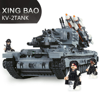 XingBao 06006 3663Pcs MOC Military Series Model Building Kits The KV 2 Tank Compatible LegoINGLYs With Figures Children Toy Gift