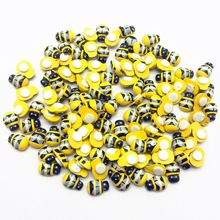 150pcs 9x13mm Wooden Bumble Bees Stickers Easter DIY Crafts Toppers Embellishments Decoration Scrapbooking Parties