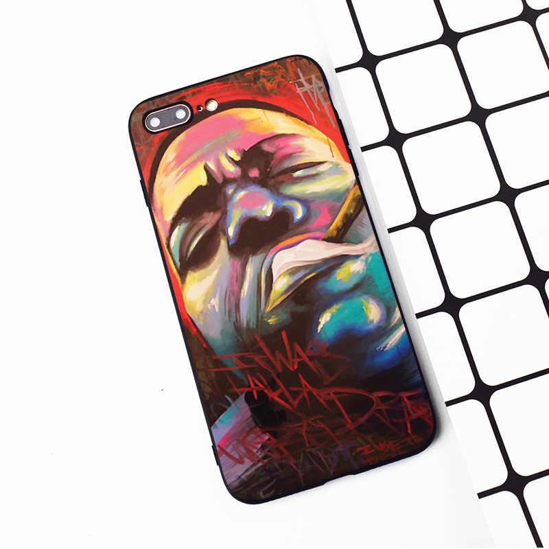 M155 Wu Tang Killa ผึ้งสะโพกสีดำซิลิโคนสำหรับ iphone ของ Apple iphone 11 Pro XR XS Max X 8 7 6 6S Plus 5 5S 5G SE