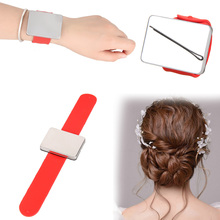 Salon Hairdressing Accessories Magnetic Hair Grip Bracelet Wrist Band Belt Hair Clips Holder(Random) Styling Tools