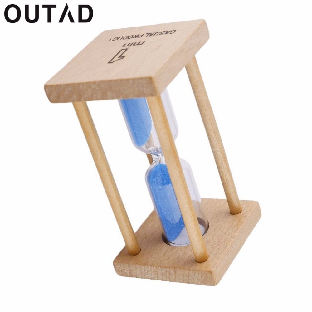 OUTAD NEW 1 pc 1minutes / 5minutes Colorful Toothbrush Timer  Hourglasses Sandglass Sand Clock Timers desktop clock