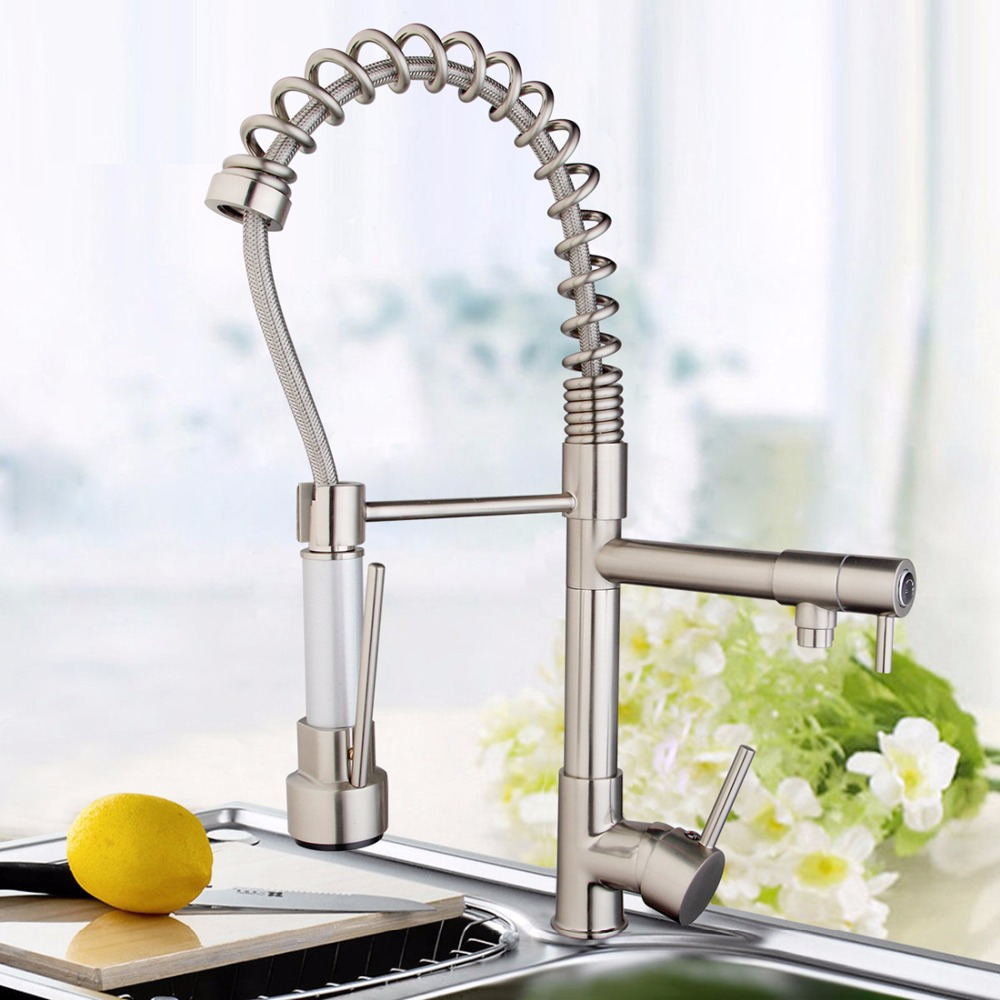 Noenname Null Brand Modern Kitchen Faucet Luxury Double