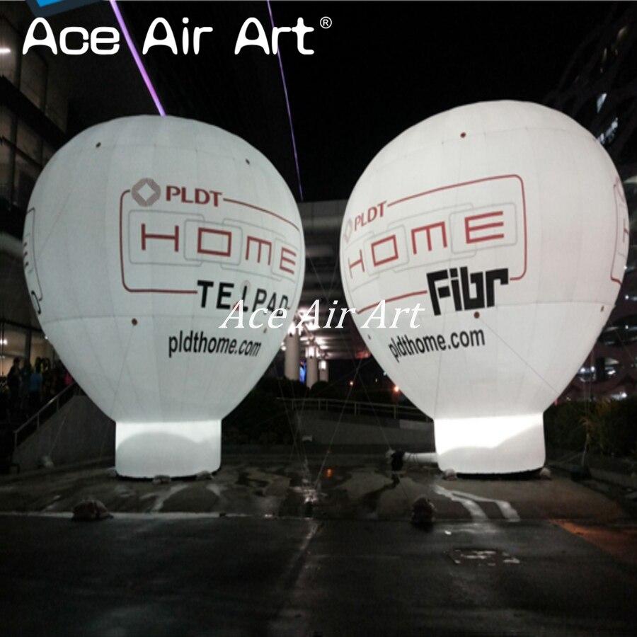 Géant gonflable air chaud toit ballon réplique viennent avec soufflerie d'air pour la publicité avec logo et led lumières pour la partie
