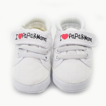 I Love PA PA & MaMa Cute Baby Bright Color Baby Shoes 3 Different Style Newborn Baby Boy & Baby Girl Shoes New First Walkers bright baby blankies