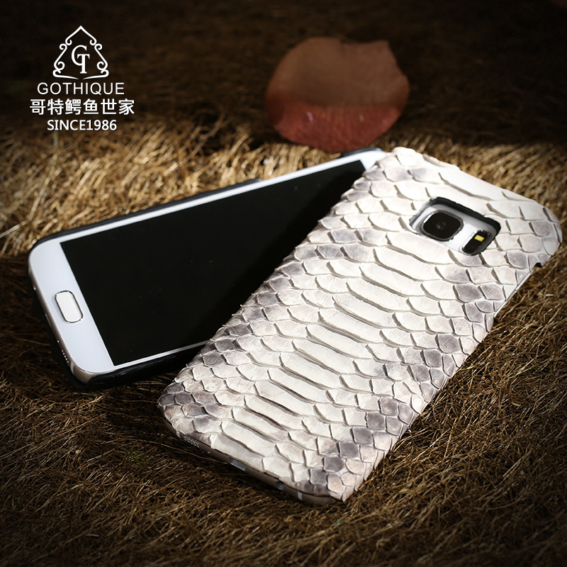 For Samsung GALAXY S7 Edge G9350 Curved Famous Brand Luxury Natural Python Snake Skin Genuine Leather
