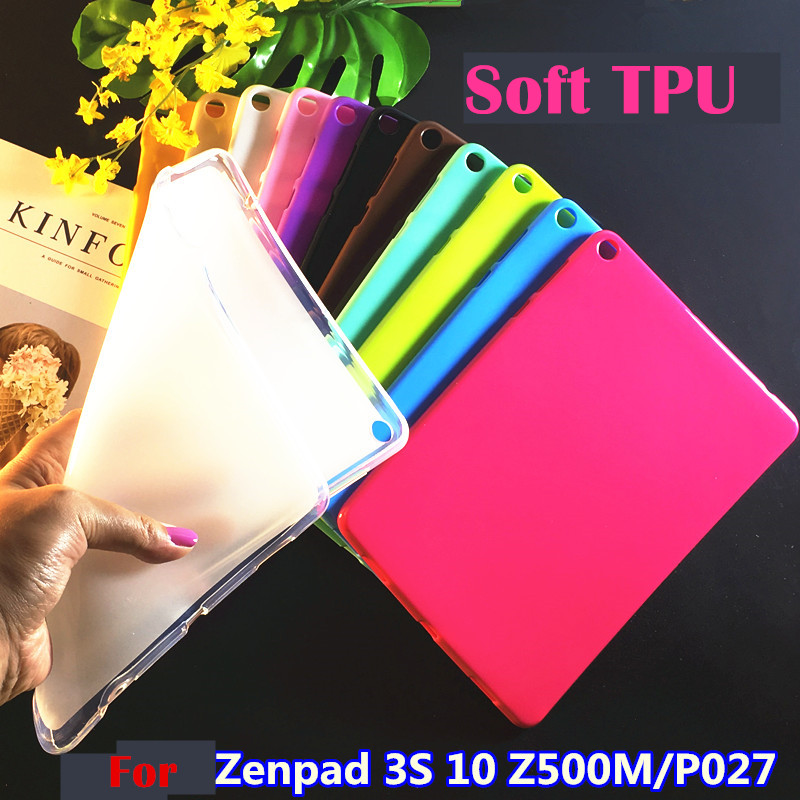 Colorful TPU Matte case cover for asus zenpad 3S 10 9.7 Z500M Z500 10'' tablet Silicone Cover funda cases shell 9.7 asus zenpad 3s 10 z500m tablet pc