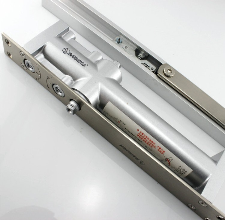 ФОТО Wholesale Household Top Class Zinc Alloy Hidden Hydraulic Invisible Door Closer Shutter With Two Speed Adjustment Screws