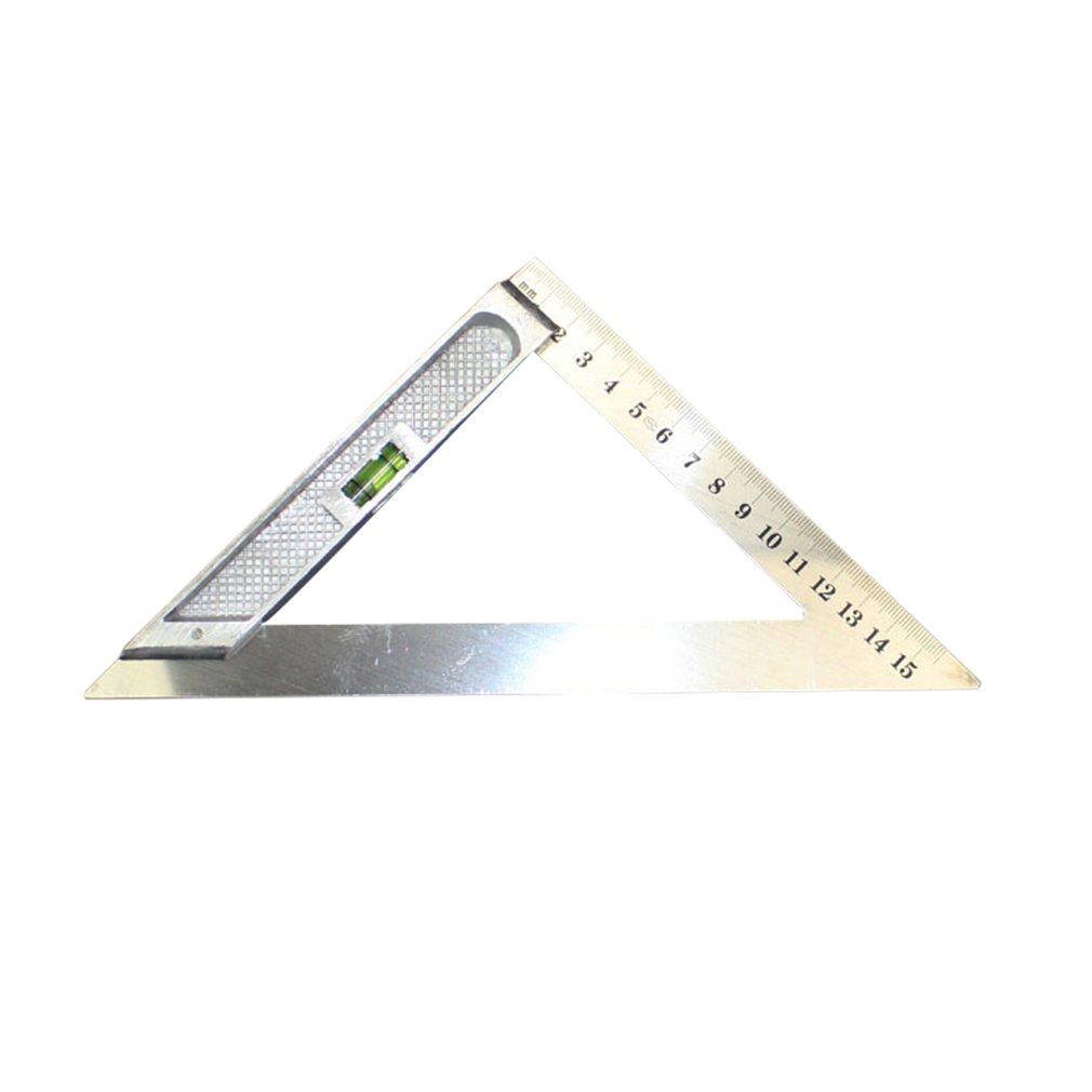 150MM Horizontal Triangle Ruler Triangular Measuring Ruler Triangle Angle Protractor Measuring Tool With Level Bubble