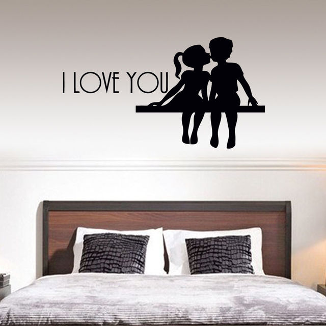 Hot Sell I Love You Quote Wall Stickers Art Bedroom Removable Decals Diy