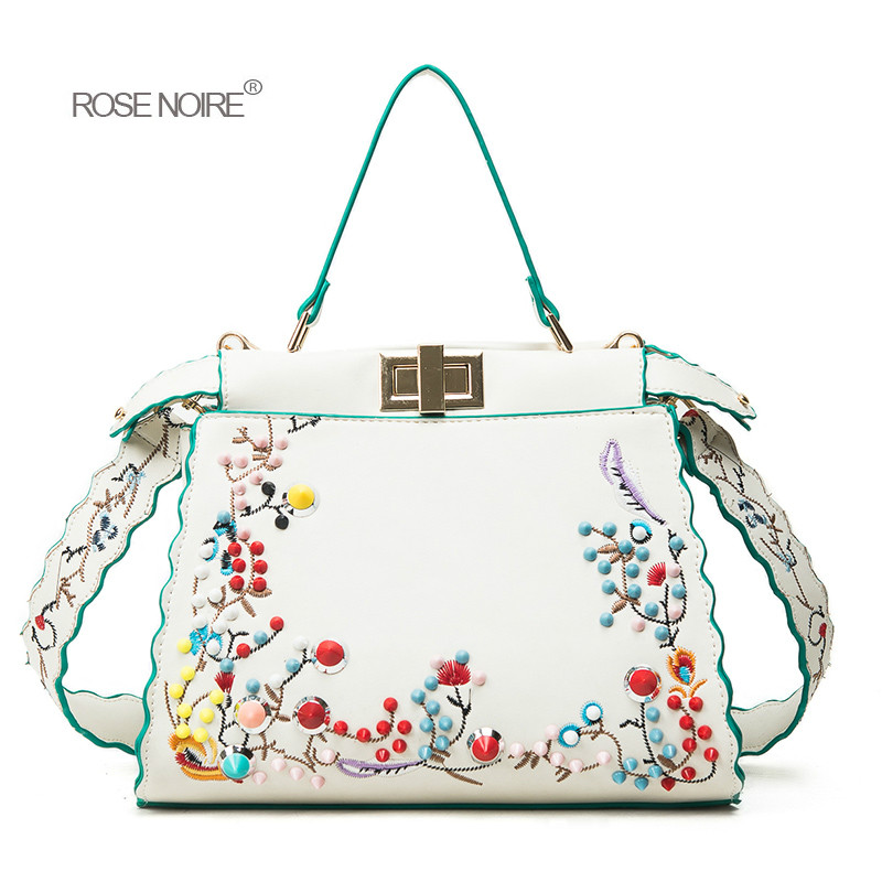 2018 Women Handbags Print Flower Handbag Messenger Bag Leather Female Crossbody Bags for women Girl's Sweet Clutch Bolsas gg bag