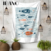 IBANO Simple European Style Wall Tapestry Hanging Blanket Home Decoration for Bedroom Dorm Yoga Mat Tablecloth