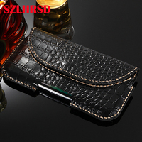 Outdoor Bag for Huawei Honor Magic 2 3D Case Genuine Leather Holster Belt Clip for Infinix Hot 7 Phone Cover Waist Bag Handmade