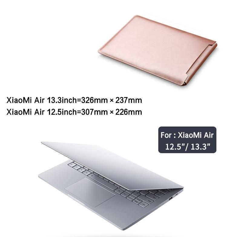 PU Leather for Xiaomi Mi Notebook Air 12.5 13.3 15.6 inch Case Casual L