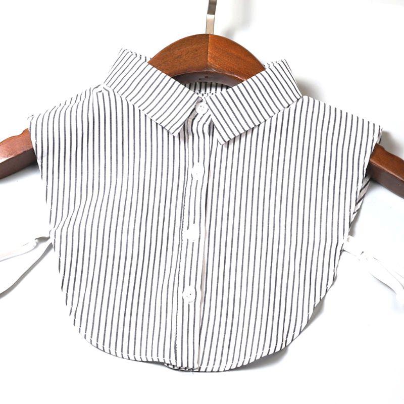 Detachable Collar Women Vintage Choker Necklace Detachable Lapel Shirt Fake False Collar Clothing Accessoires Collar Removable