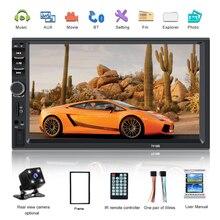 """2 din Автомобильный Радио Bluetooth мультимедийный плеер HD """" Авторадио 2din сенсорный экран Авто аудио стерео MP5 USB TF FM камера 7018B"""
