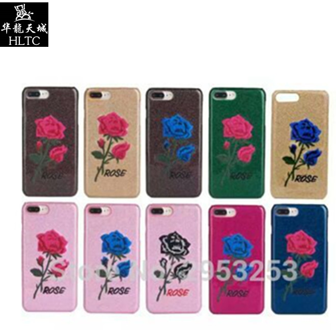 for Iphone7plus 7 6s personalized creative Flower Embroidered for apple 7plus mobile phone case anti drop full female tide card