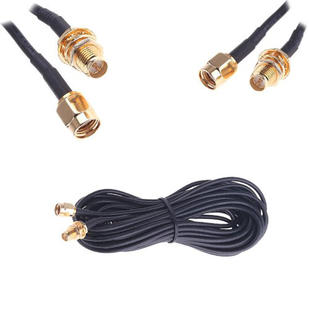 WSFS Hot Sale New Black 6 Meters Long Antenna RP-SMA Extension Cable WiFi Wi-Fi Router
