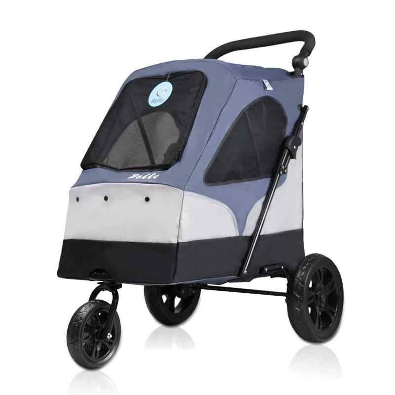 Large pet stroller large dog dog cart folding large space bearing 55KG Pet  outing supplies