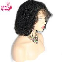 Атина Queen афро кудрявый парик с волос младенца афроамериканец Синтетические волосы на кружеве Человеческие волосы афро Искусственные пари...