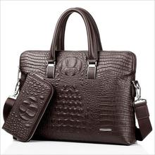 Men's bag crocodile grain handbags iPad bags Designer crossbody bag Men Messenger Bags