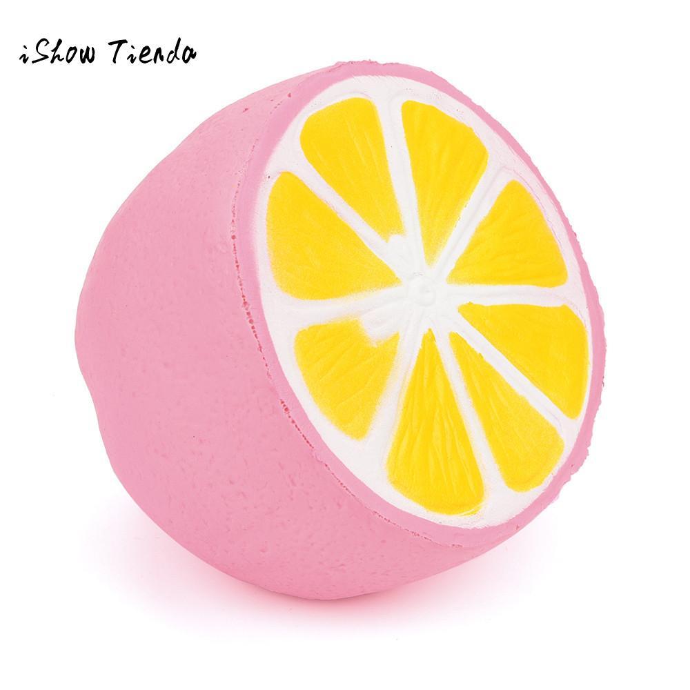ISHOWTIENDA 1PCS Jumbo Kawaii Cute Squishy lemon Super Slow Rising Bread Bun Cake Sweet Charm Scented Kid Fun Toy Gift Wholesale