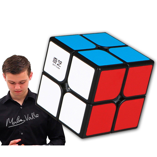 Sticker Magic cube Speed Puzzle Cube Funny Toys 2 2 2 Magic Cube Toy cube Educational Toys for children birthday gift in Magic Cubes from Toys Hobbies
