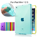 8 Colors Luxury Smooth TPU Soft Transparent Case Cover Skin Protector for Apple iPad Mini 1 2 3 Tablet Bags