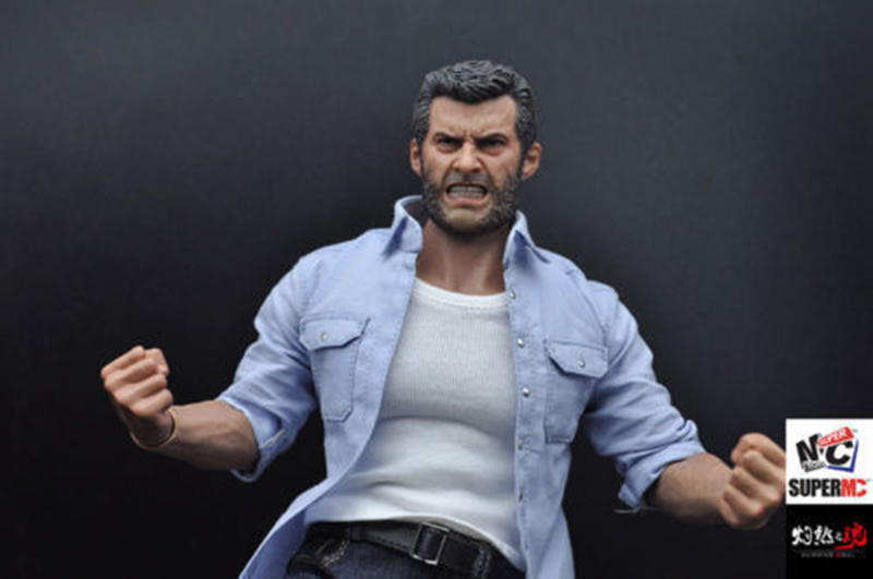 "1//6 Wolverine Clothes Suit Logan Business Costume W//Claws Shoes Fit 12/"" Figure"