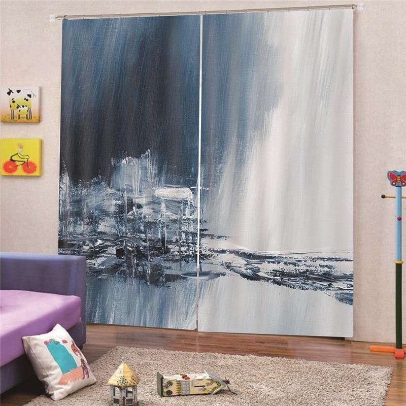 Haus & Garten Haben Sie Einen Fragenden Verstand 3d Digital Print Landschaft Blackout Vorhänge Für Küche Schlafzimmer Fenster Behandlung Vorhänge Für Wohnzimmer Nach Maß Apr8