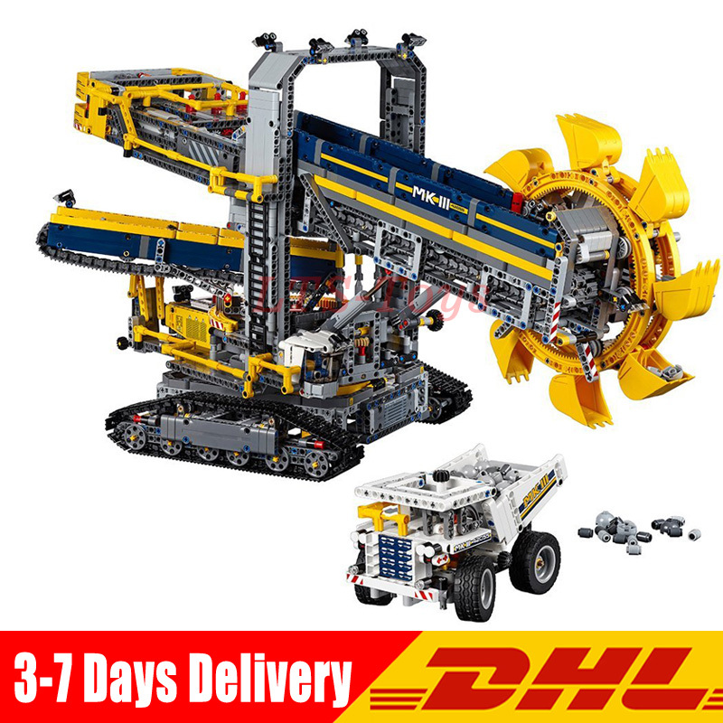 LEPIN 20015 3929Pcs Technic Bucket Wheel Excavator Model Building Assemble Kit Blocks Brick Compatible Legoings 42055