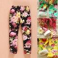 0-2 Años Del Bebé Del Invierno Niñas Leggings Florales Imprimir Casual Pantalones Gruesos para Niños ropa de Algodón de Los Niños Calientes pantalones
