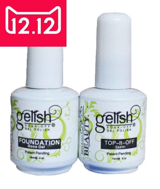 Free shipping Nail Gel uv topcoat Top it off + Base Coat Foundation for uv gel polish ,uv gel polish topcoat and primer kit жидкость domix green professional nail gel polish remuver