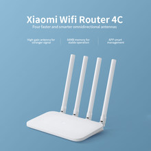 Xiaomi Mi WIFI Router 4C Roteador APP Control 64 RAM 802.11 b/g/n 2.4G 300Mbps Router 4 Antennas Router Wifi Repeater for Home