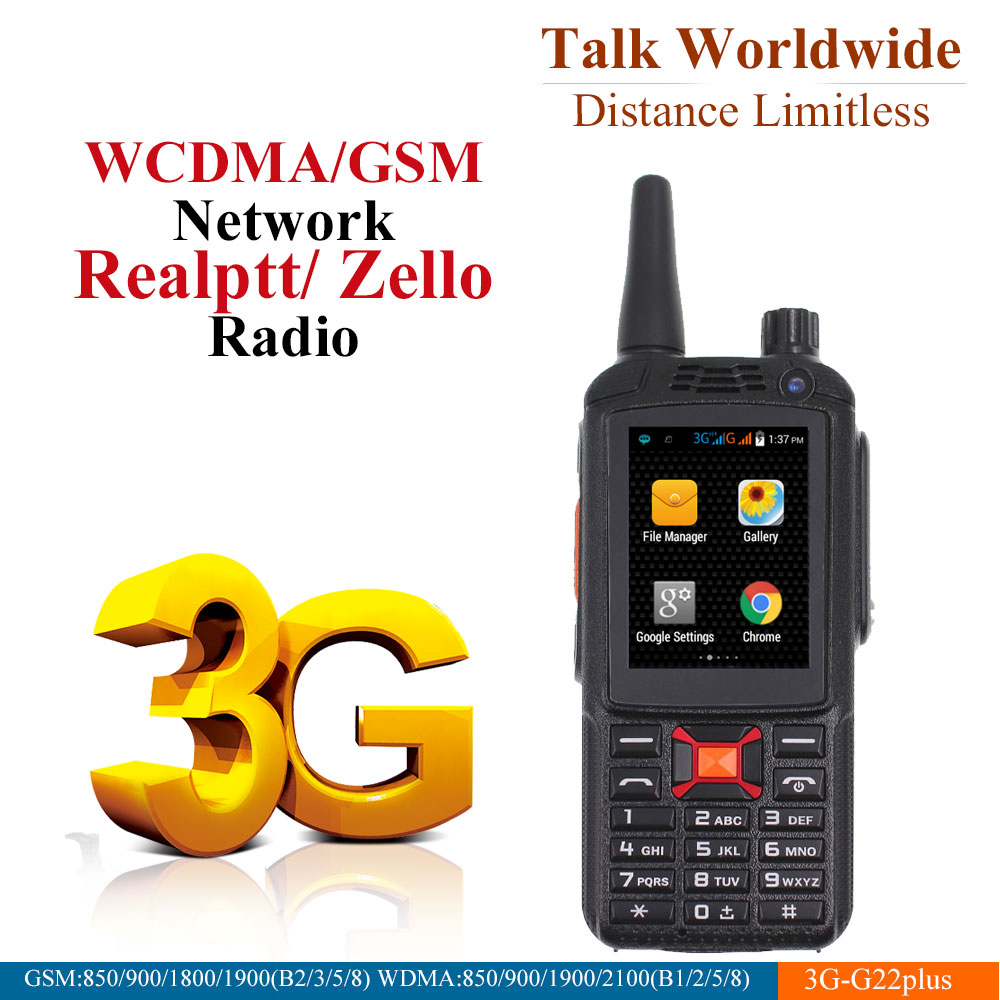 3G Android Walkie Talkie G22 Plus Poc network Phone Radio Intercom Rugged Smart phone Zello REAL PTT Radio F22 Plus-in Walkie Talkie from Cellphones & Telecommunications